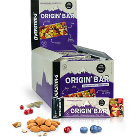 OVERSTIM.s Origin Boîte de barres 30x40g, Cranberries Blueberries